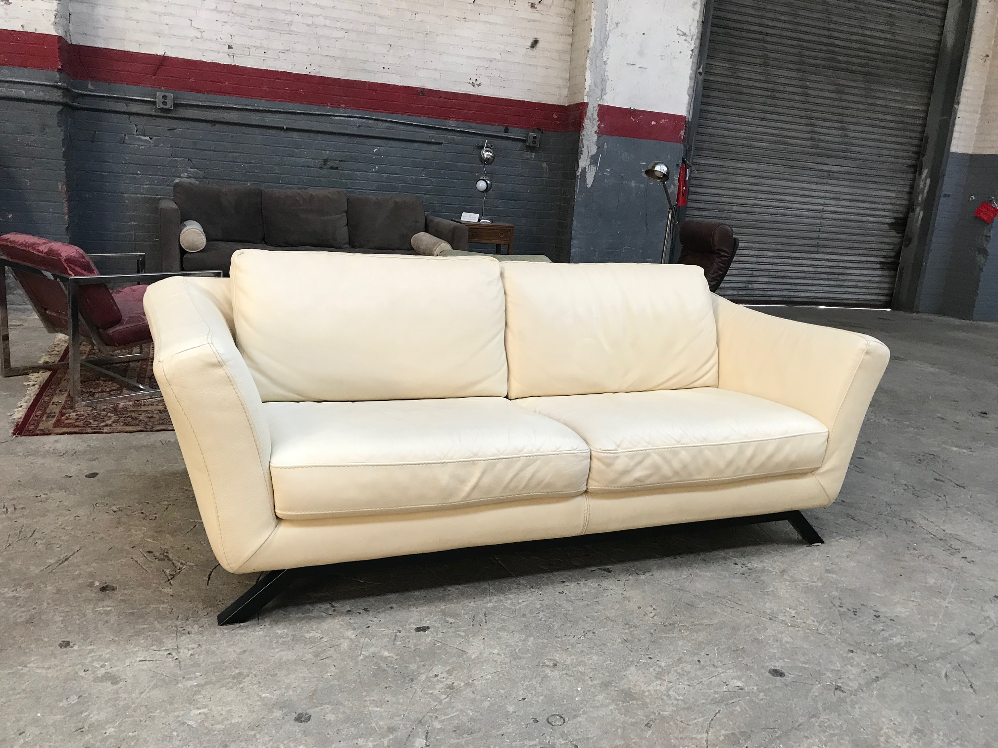 White Leather Couch $400
