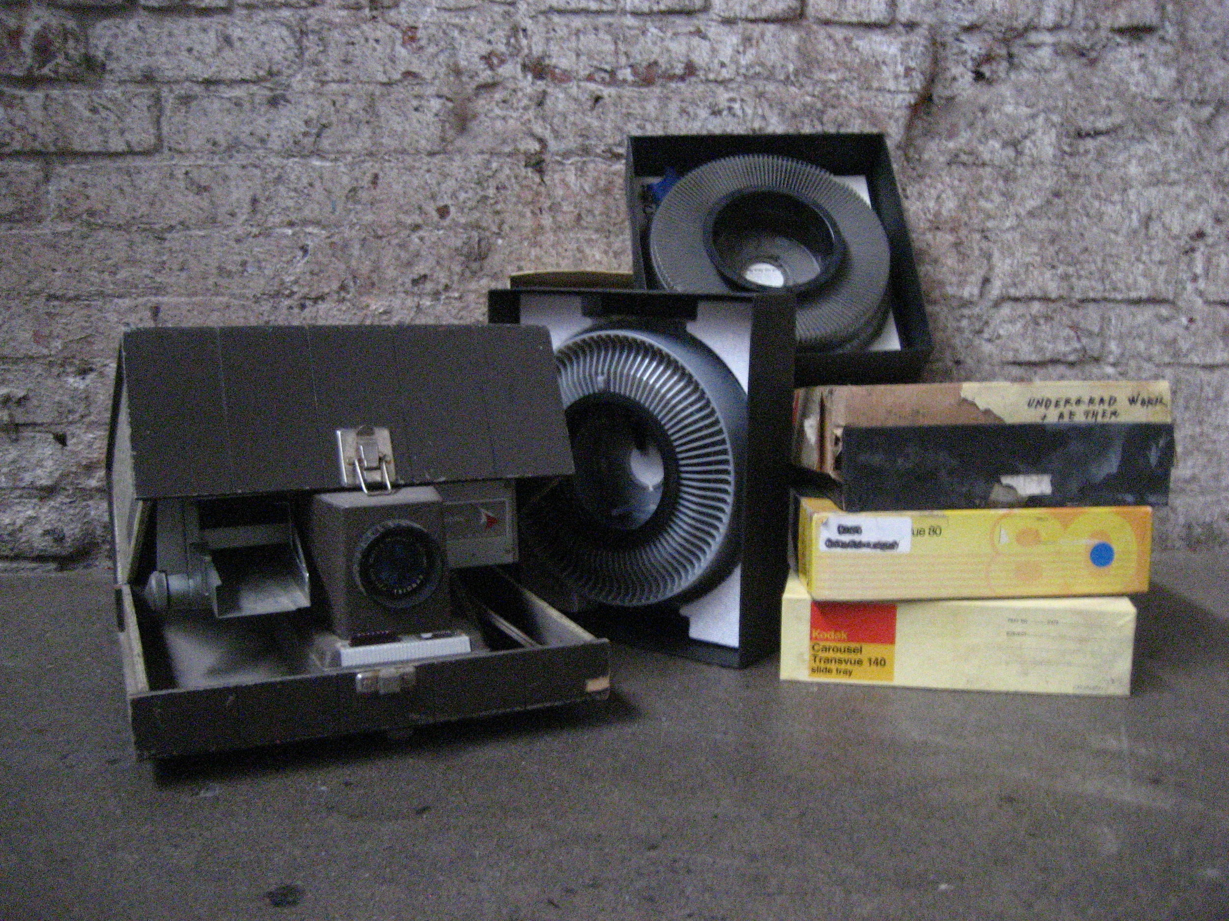 Slide projector and carousels $45