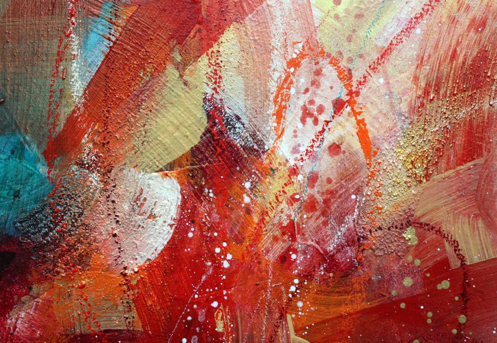 Raraskadoot (detail), 30x42, acrylic on canvas