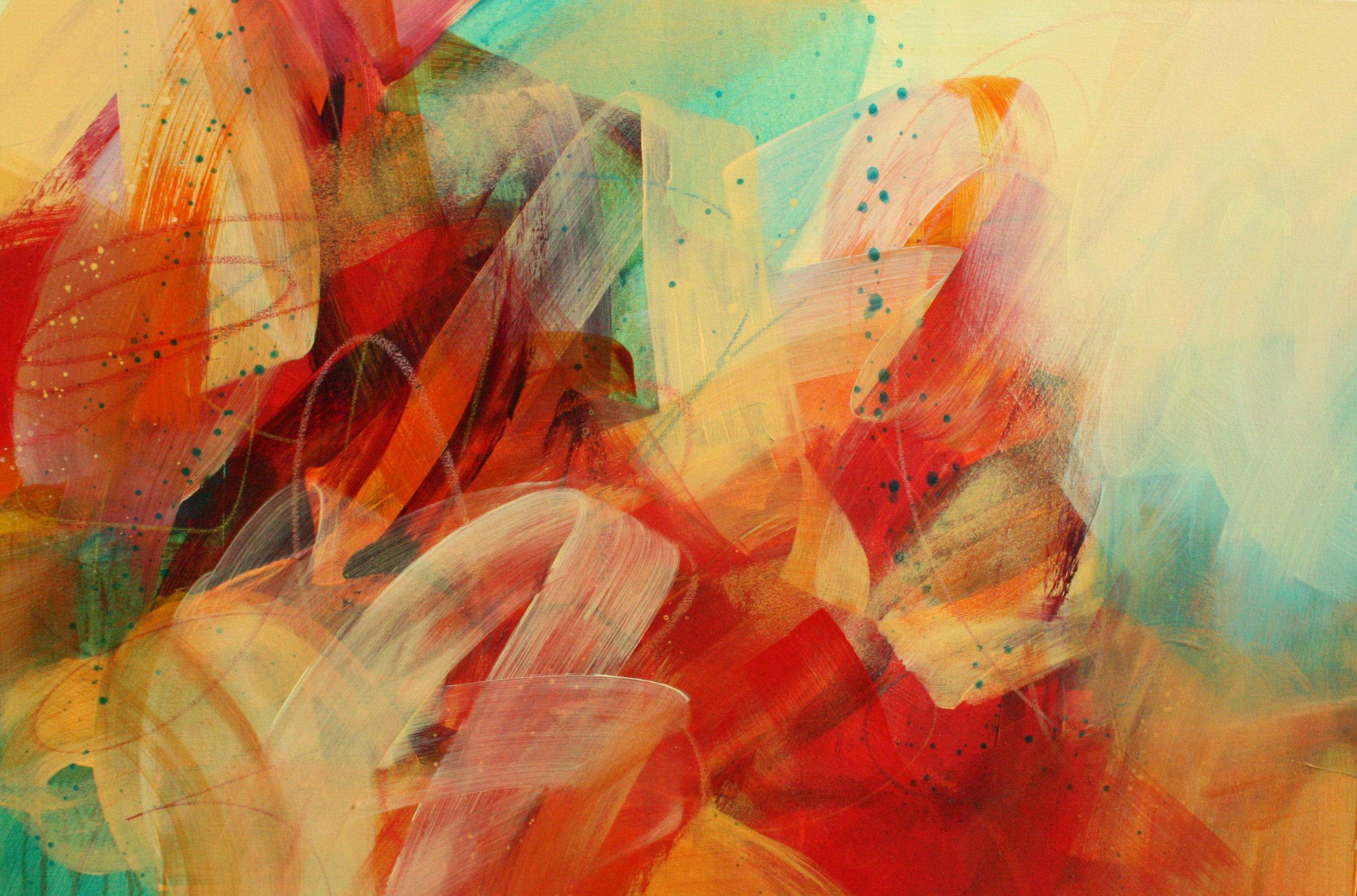 Whimzeedoodle, 24x36, acrylic on canvas