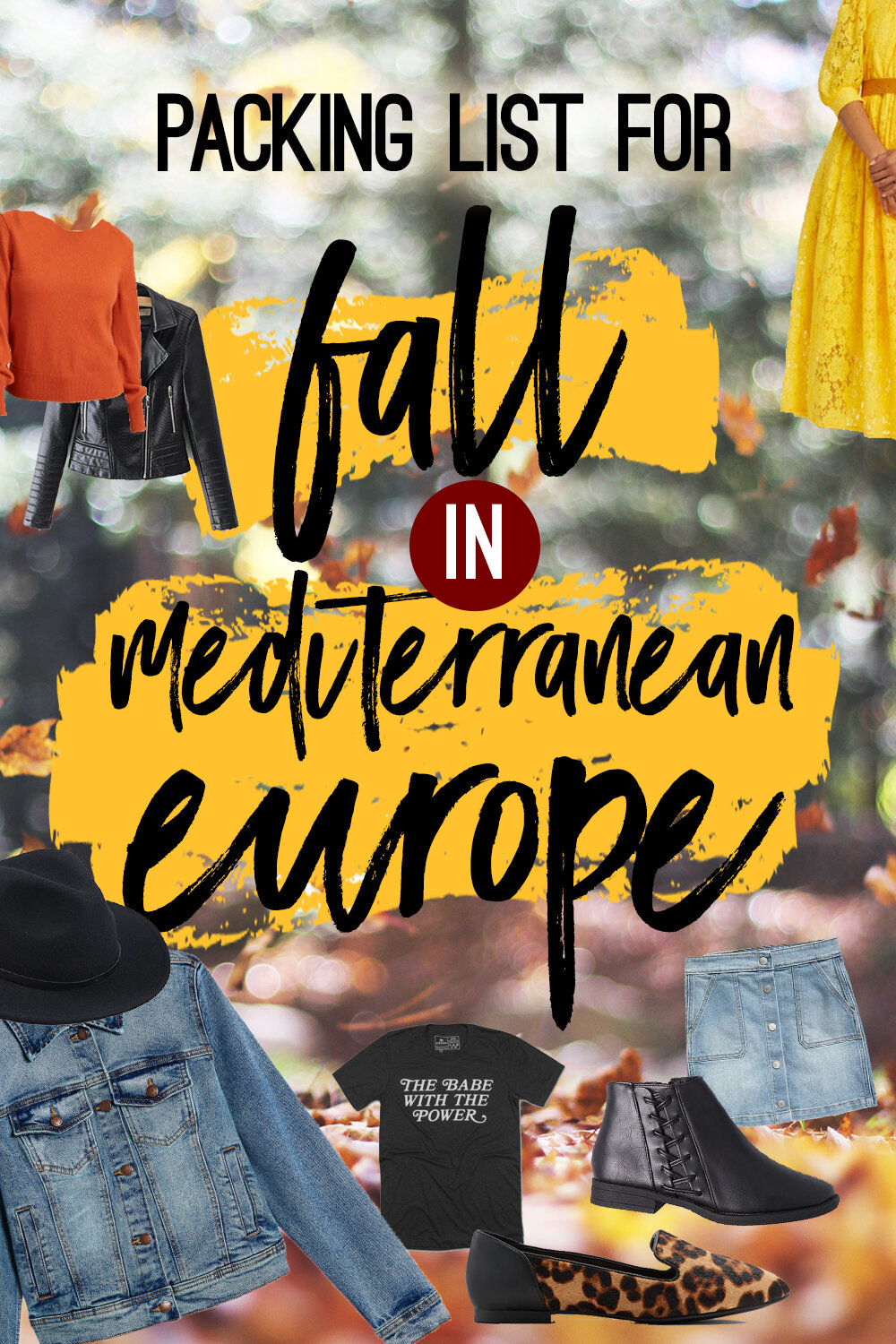 The Ultimate Mediterranean Europe Packing Guide for Fall: What you NEED and What to SKIP