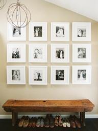 Love the photo arrangement via this pinterest find!