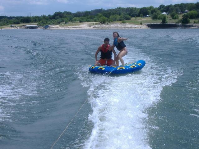 Nina surfing