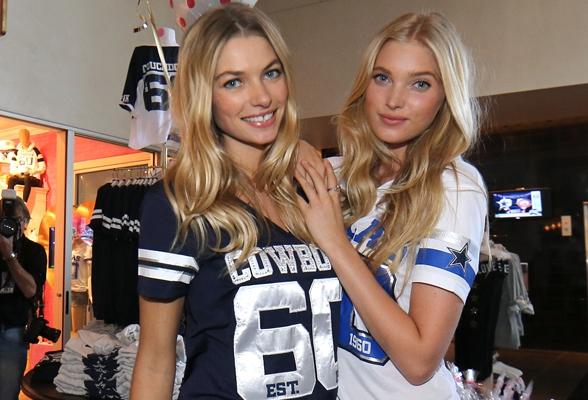 Even Victoria's Secret models can't resist the blue star!
