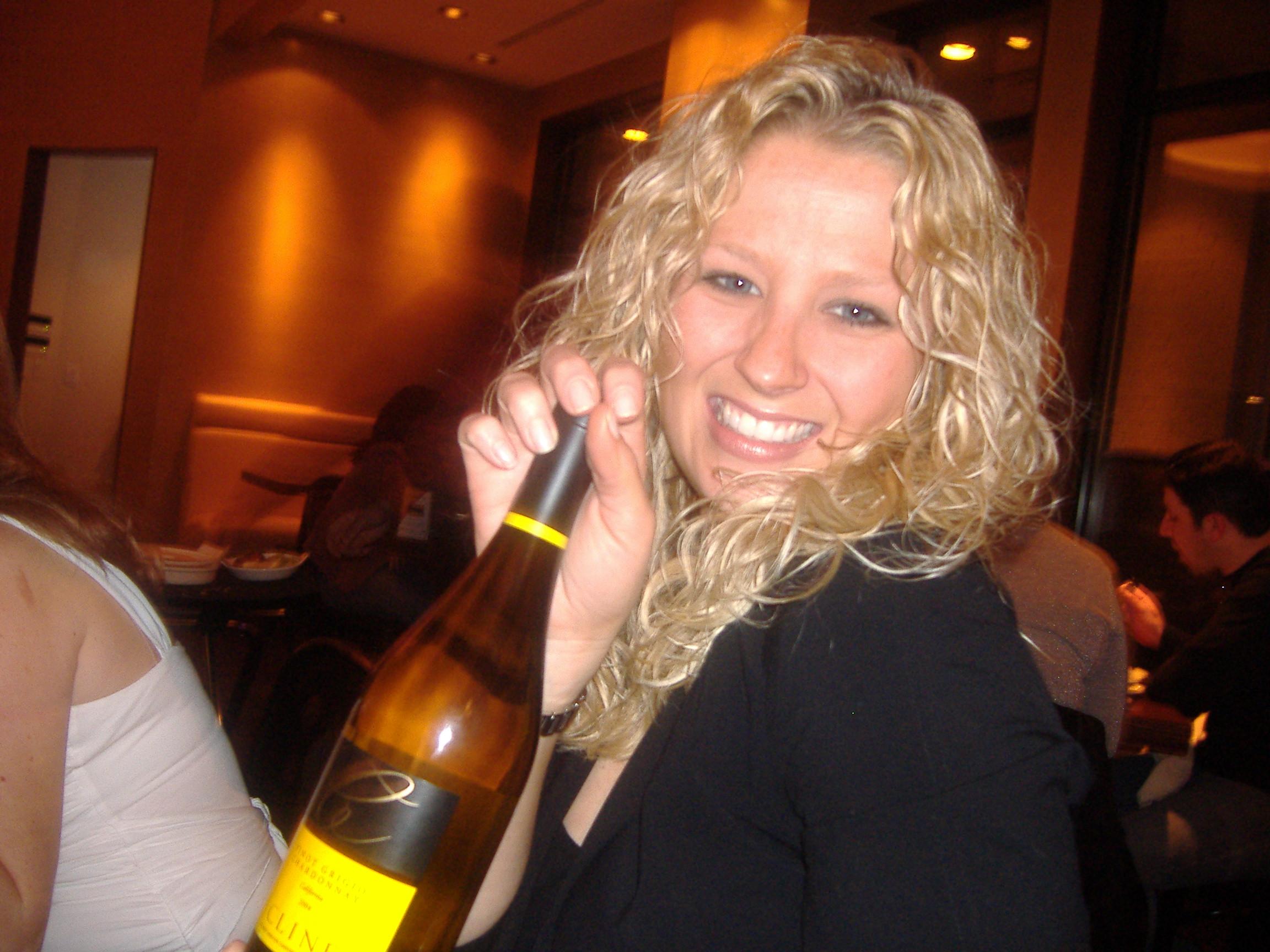 Rachael loves her wine!