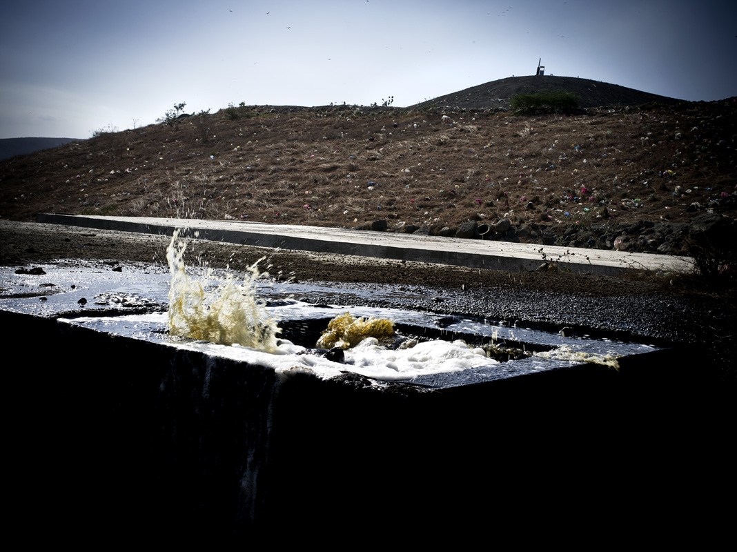 Leachate control os a problem at LaChureca. We are proposing a project to clean this landfill water up using Biogas Bag Digestion.