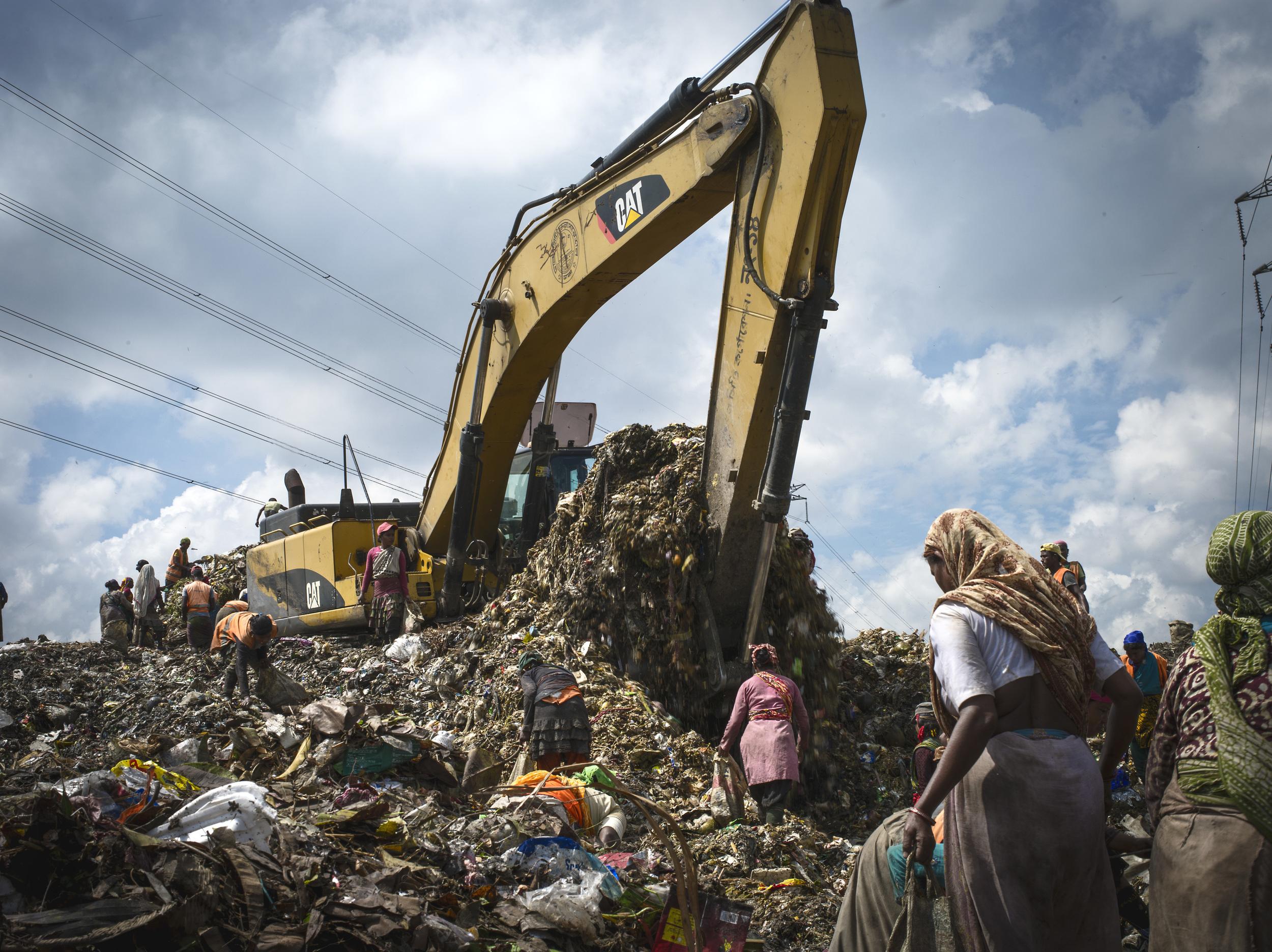Matuail Landfill in Dhaka, Bangladesh.