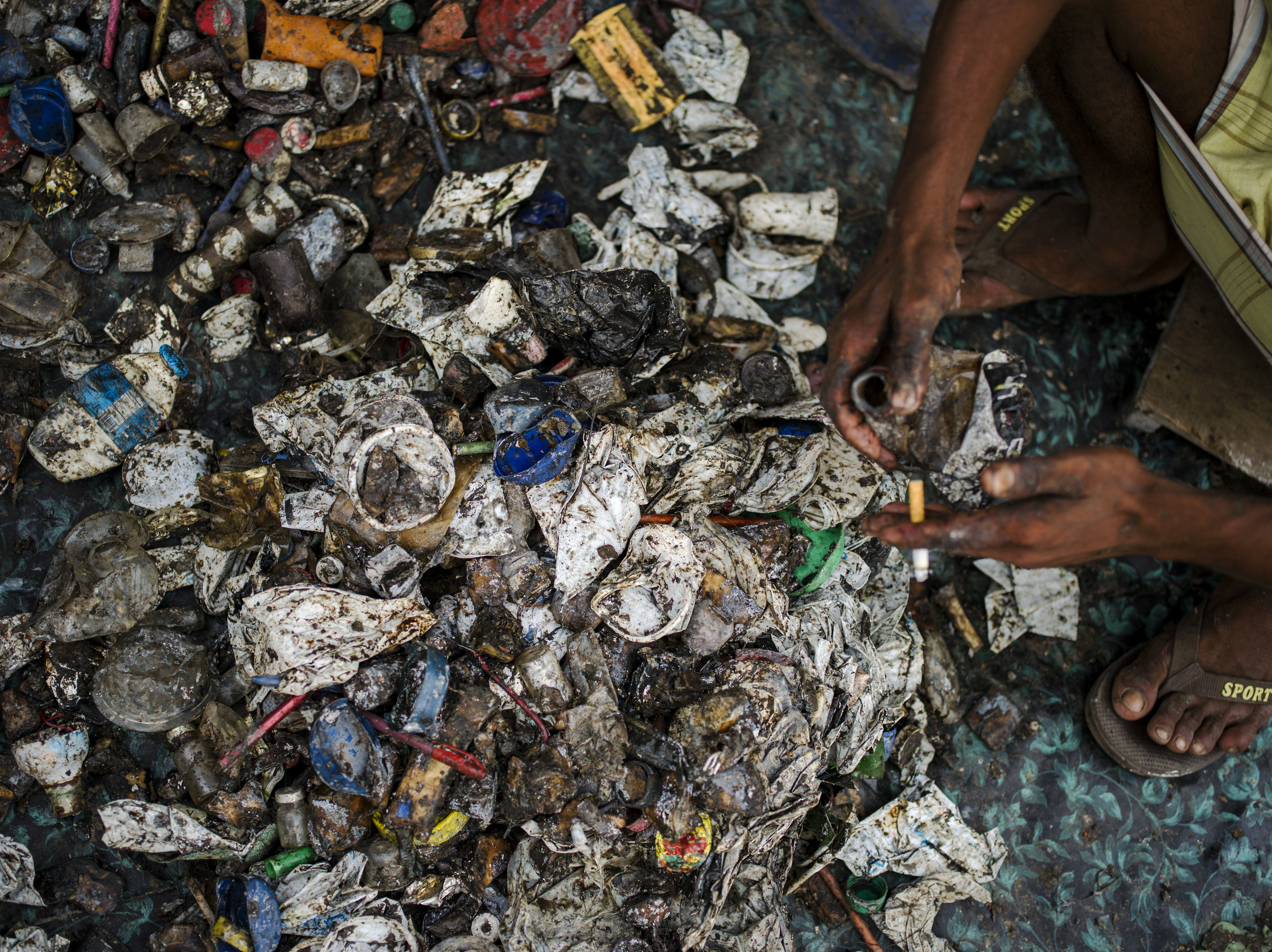 Scraps collected for recycling. Mutual Landfill, Dhaka.
