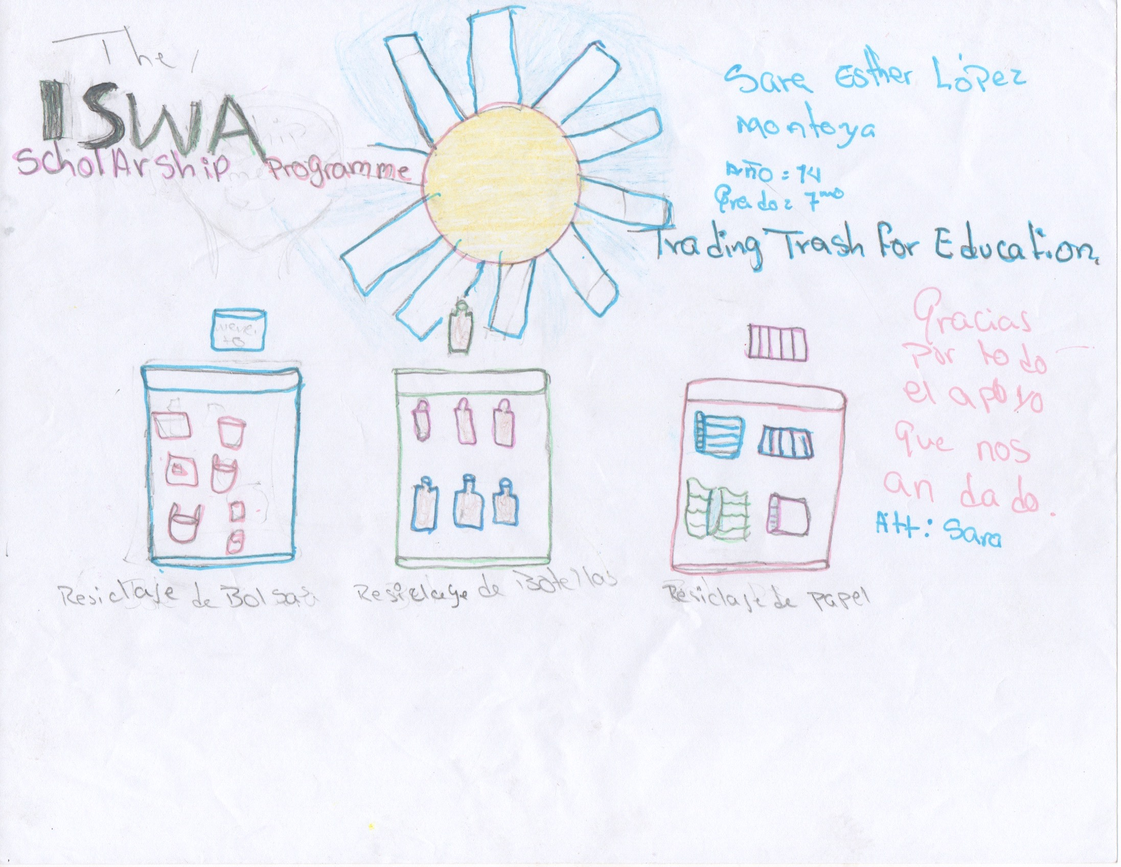 Sara's winning artwork!