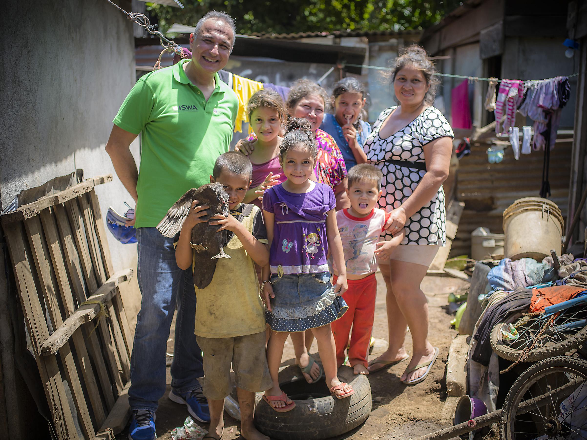 Antonis in Nueva Vida with Josephina, Marcia, Siara, Norlan, Pedro, and Fernanda. We have 6 scholarship kids from this area.