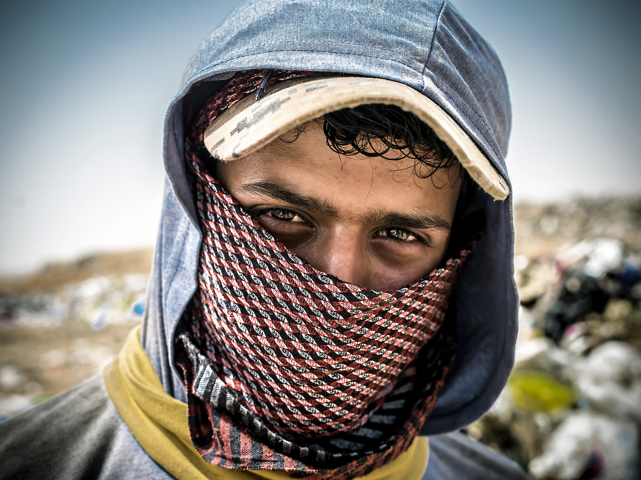 Maher Mansoor, 26 years old working at the Huseyneya dumpsite in Mafraq in Jordan.