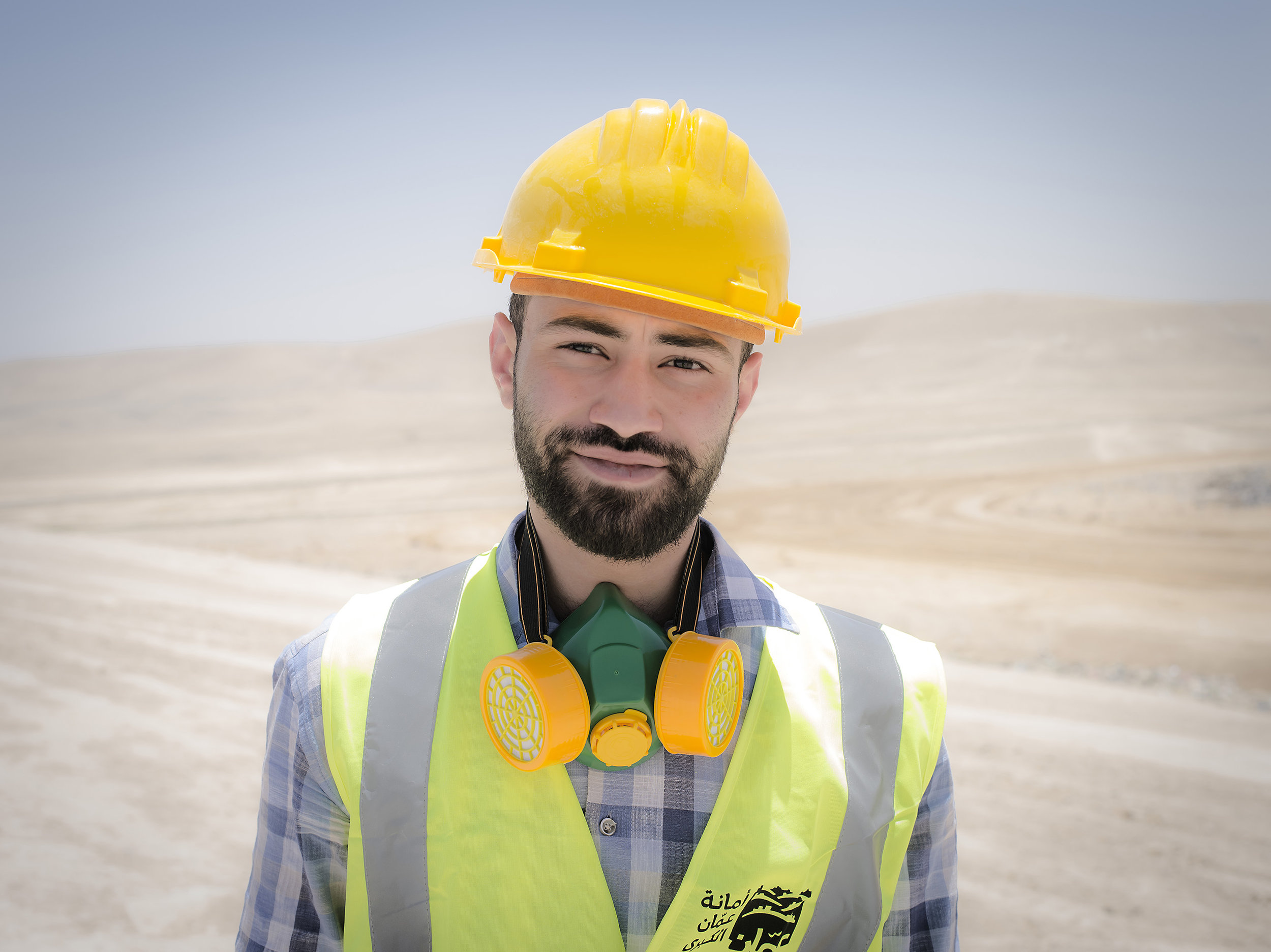 Osama works with sanitation for the country Jordan.
