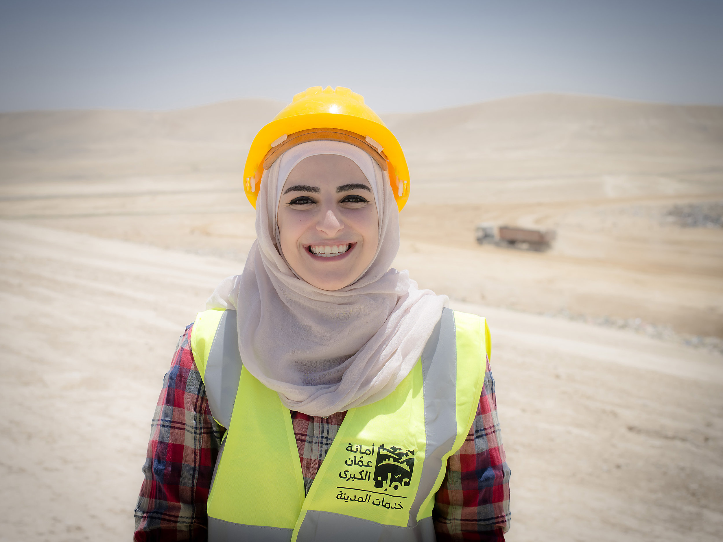 Salam Al-zu'bi works with all the dumps and has a masters in Climate Change and Environmental Sciences.