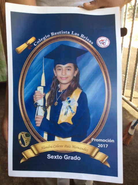 Alondra graduates from private school Bautista Las Brisas and will now move into high school. Congrats Alondra!