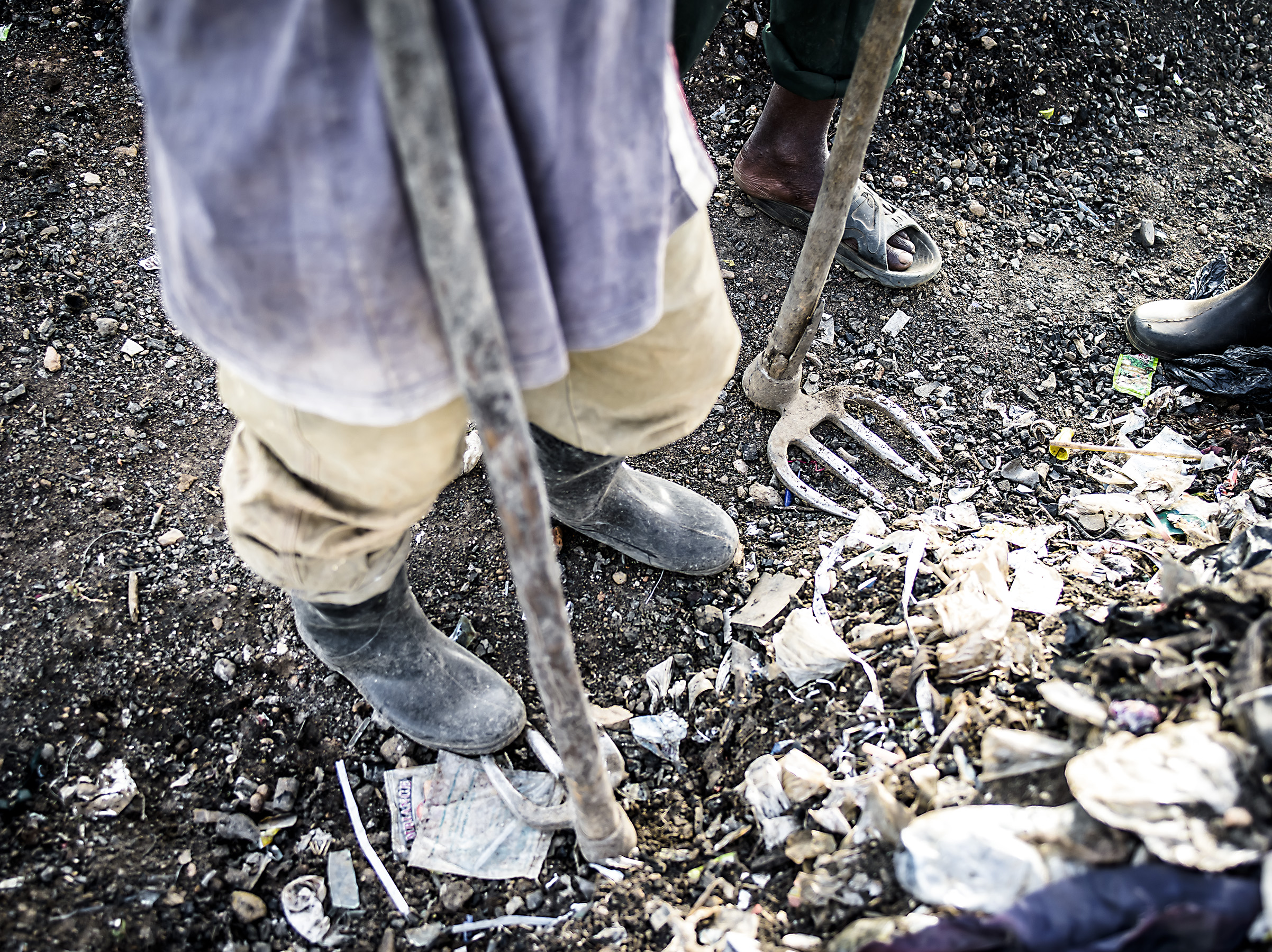 Worker from the Mbarara dumpsite.