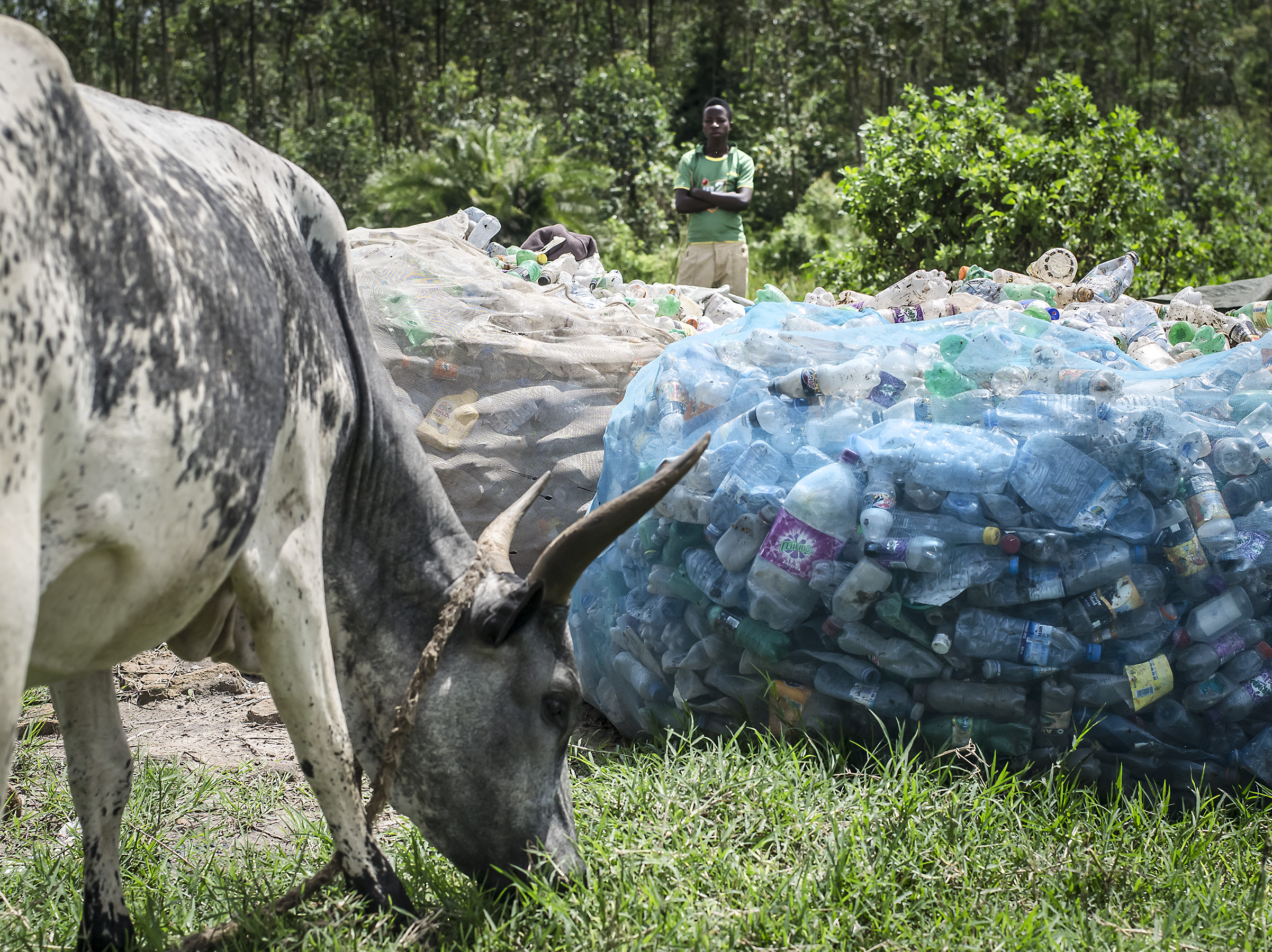 Many times informal recyclers are ashamed of the work they do, but just imagine if no one was cleaning the trash being dumped directly into nature. Kabwohe