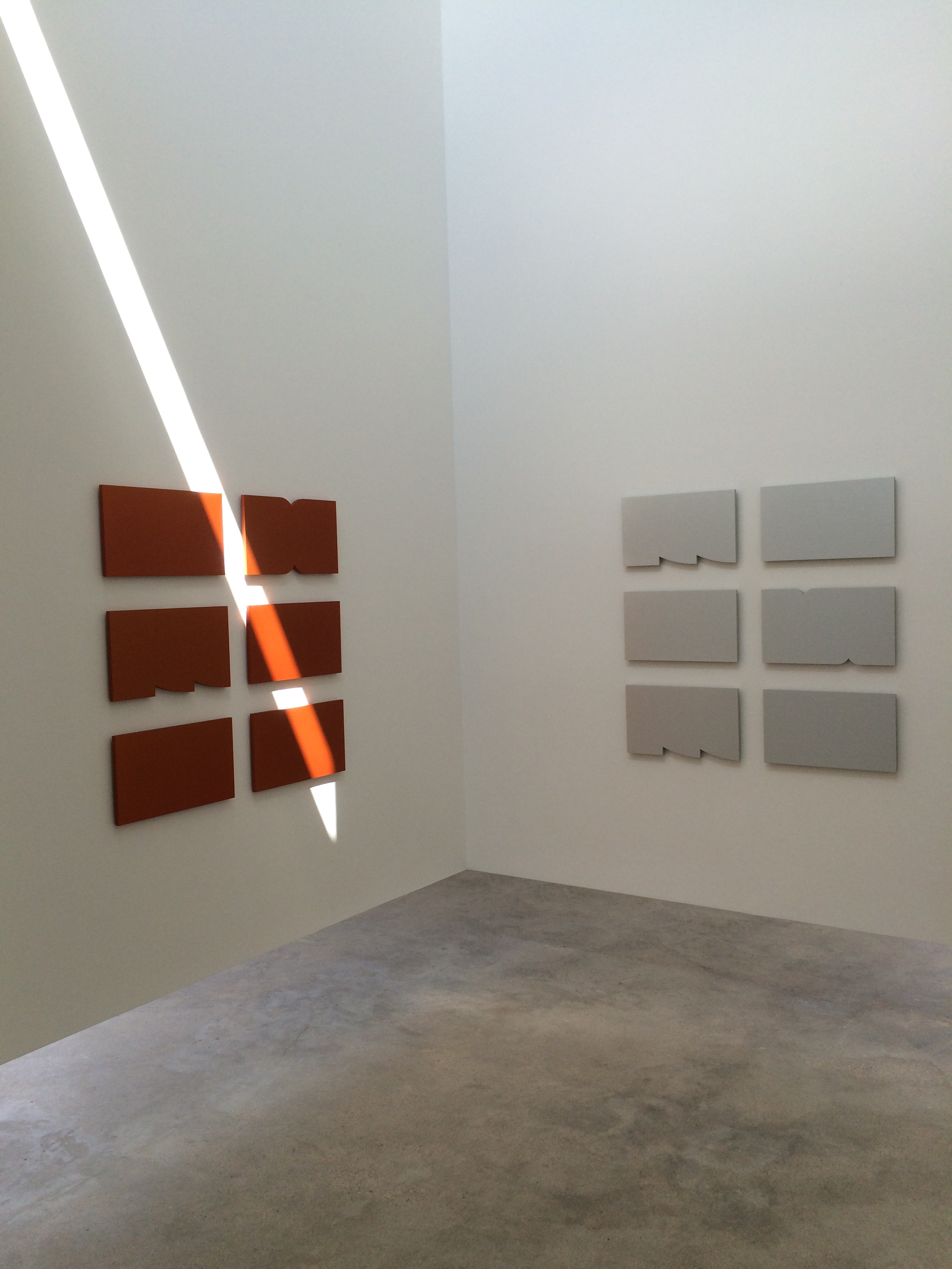 Orange Ridge 2015 and Silver Ridge - Anodized aluminum - both pieces are made up of 6 panels.