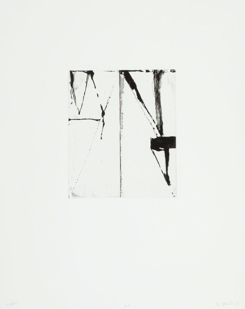 """Etching to Rexroth #20  (1986)   Etching and sugarlift aquatint on wove paper   19-1/2"""" x 16"""" / Edition 34/45"""
