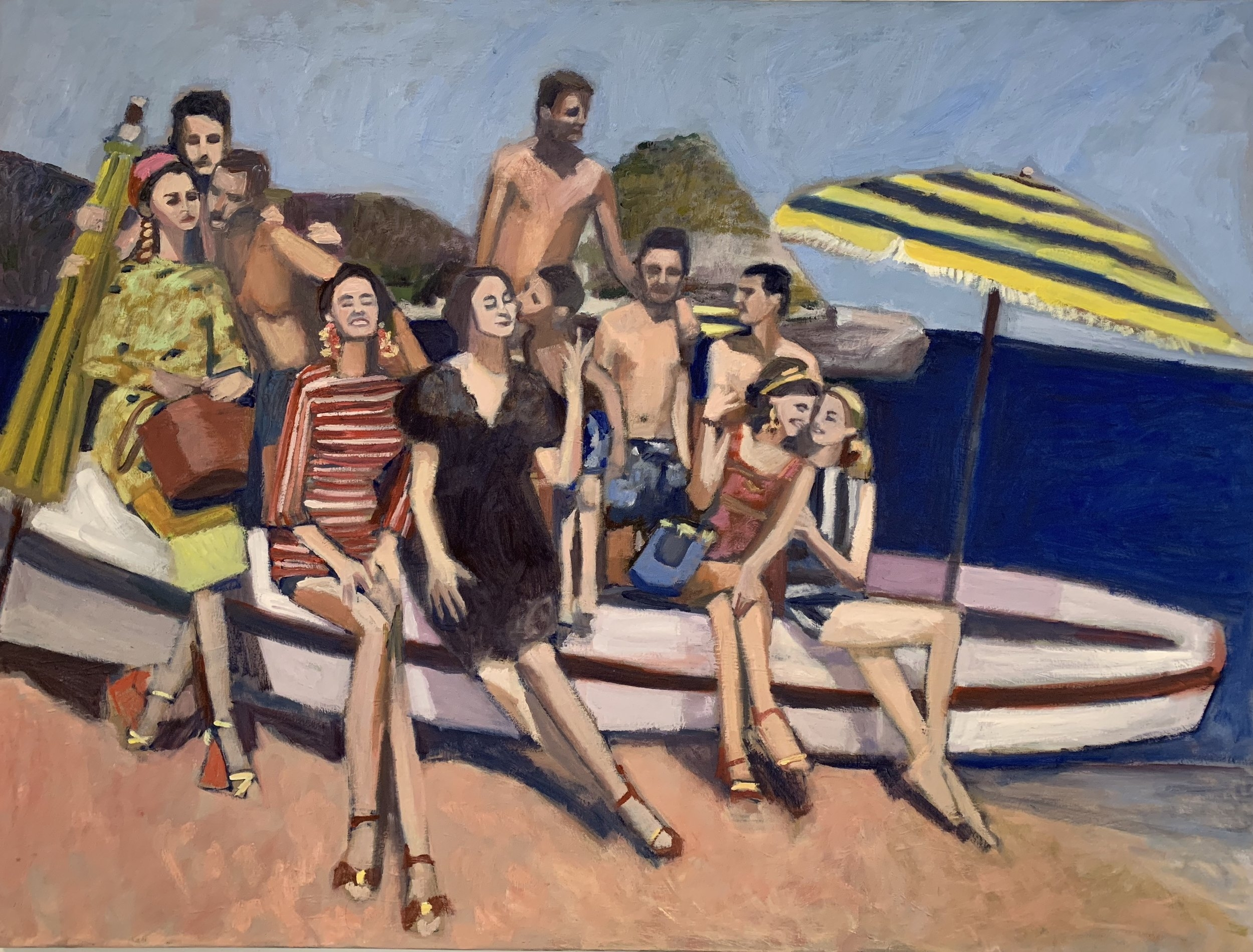 """the bathers""  oil on canvas 36""x48"""