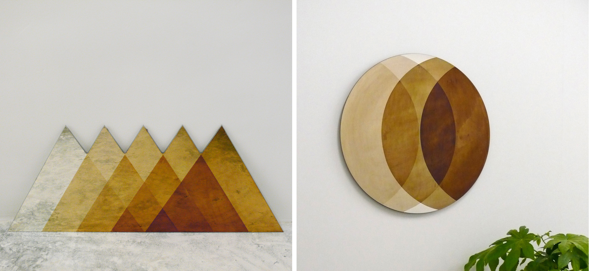 Triangles   and   Small Circle   Transcience Mirror by Lex Pott and David Derksen.