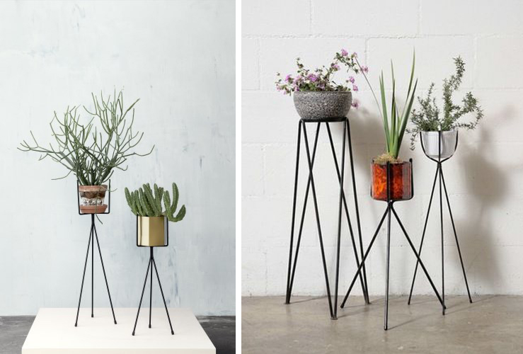 Left: Large Plant Stand by   Ferm Living.   Right: From   Amsterdam Modern