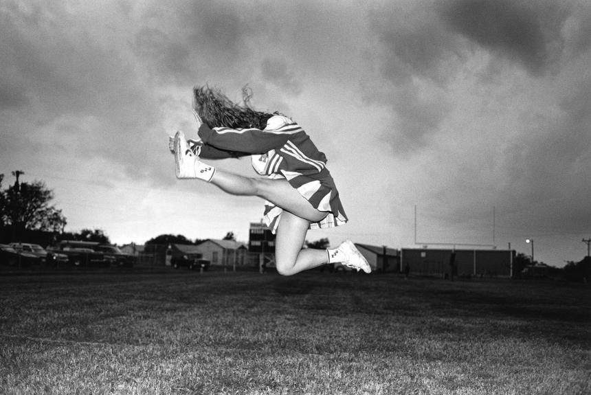 Sheila Edgar, Cheerleader, Moran High School Moran, Texas November 8, 1991 (c) Copyright Laura Wilson