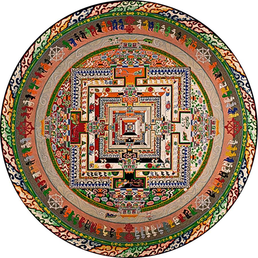 Image:                                         Kalachakra (Wheel of Time) Sand Mandala                                         by the Venerable Losang Samten  Photo Credit: Thomas Bugaj