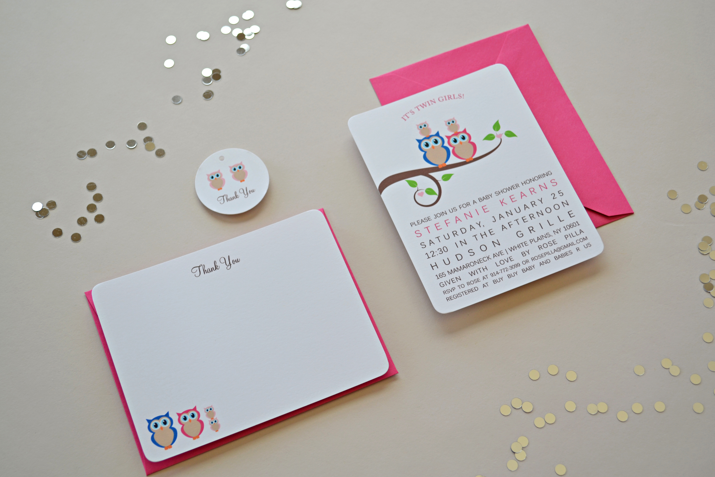Owl Family | Expecting Twins by Simplicity Papers