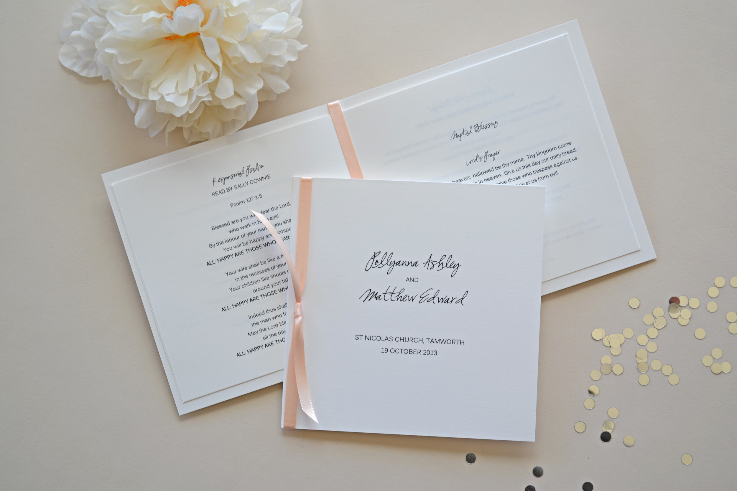 Wedding Program Booklet by Simplicity Papers
