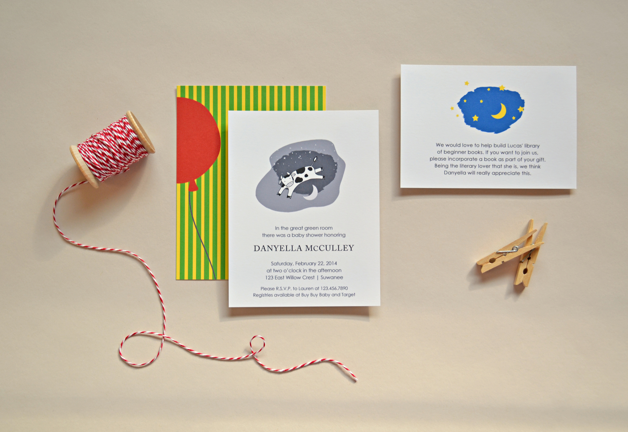 Goodnight Moon Baby Shower Invitations by Simplicity Papers