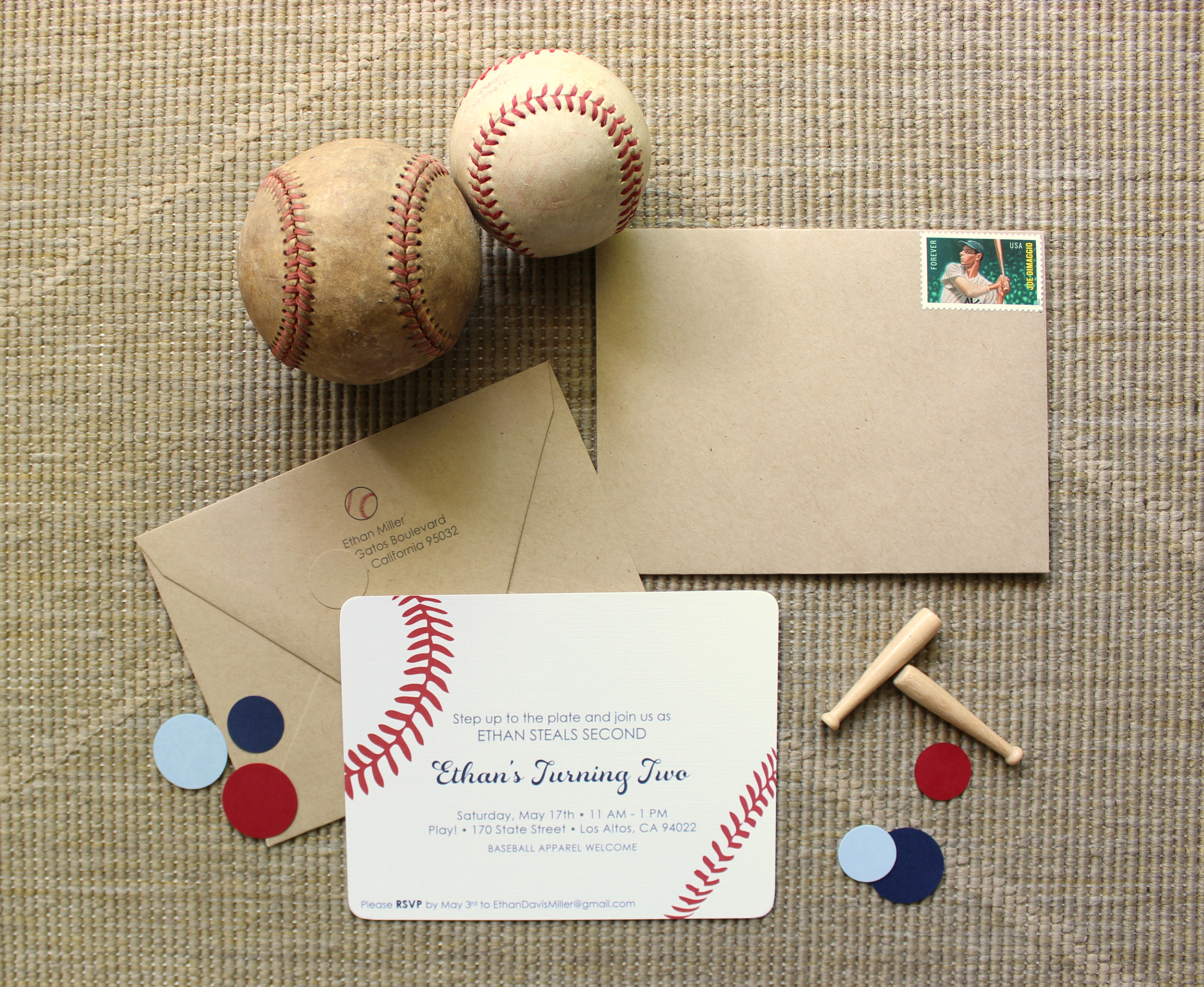 Baseball Birthday Invitation by Simplicity Papers