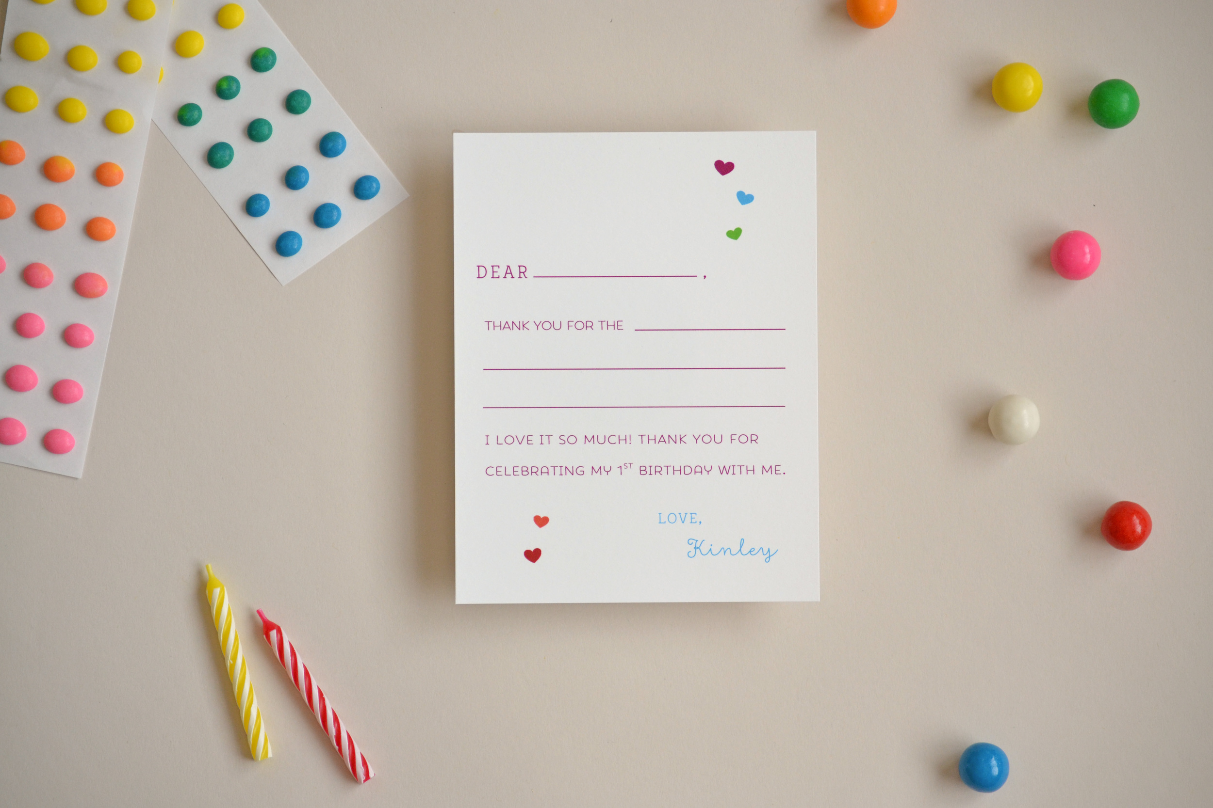 Over the Rainbow Birthday Invitation and Note Card by SimplicityPapers