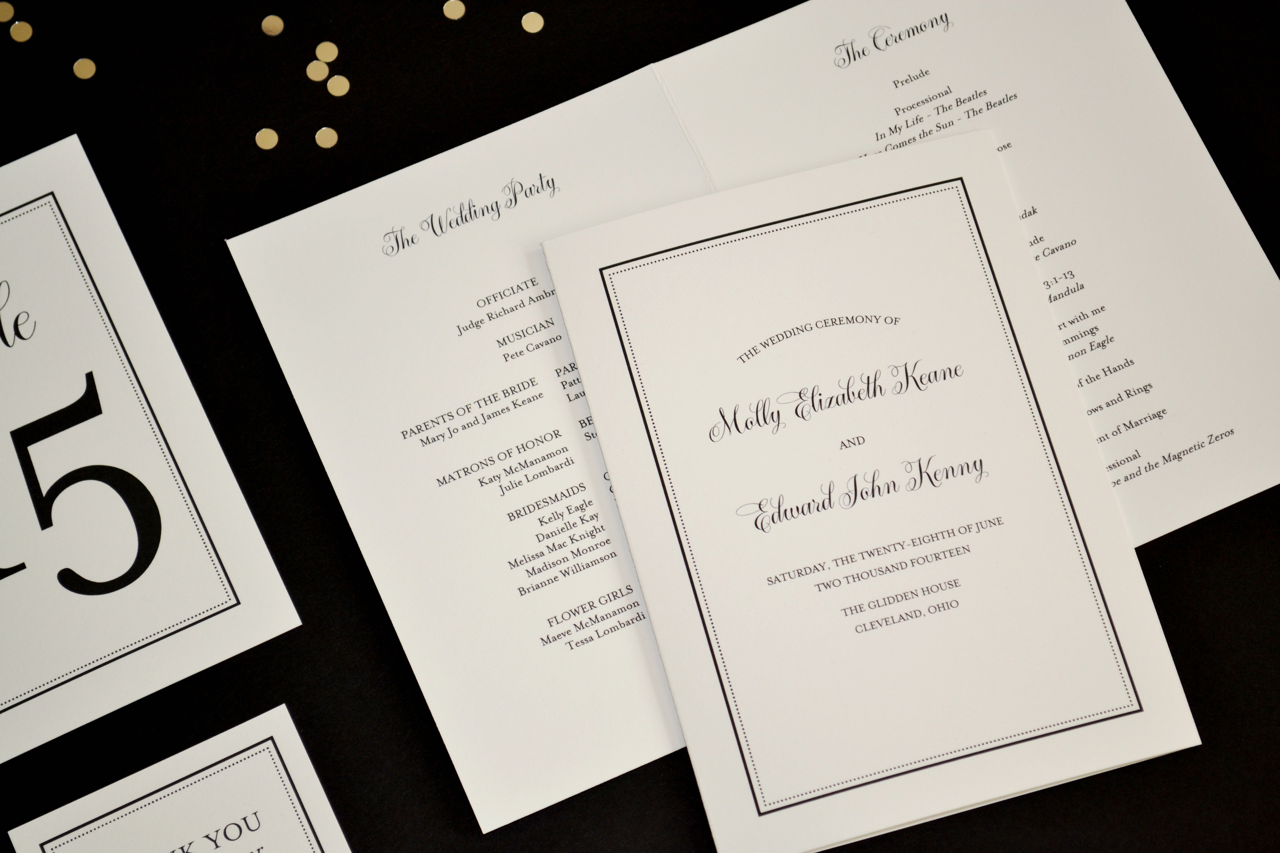 Classic Black and White Wedding Stationery by Simplicity Papers