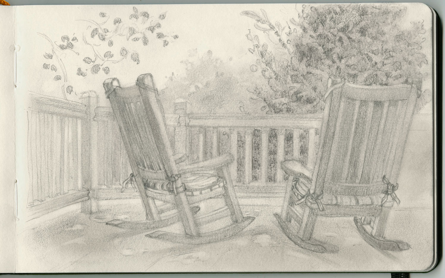 Rocking chairs in St. Helena, Napa Valley.