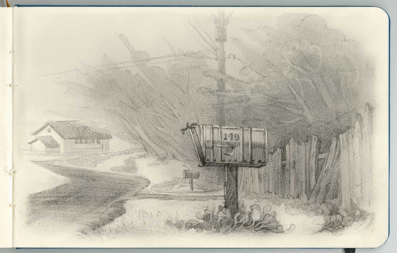 Mailbox in Pacific Grove, California.