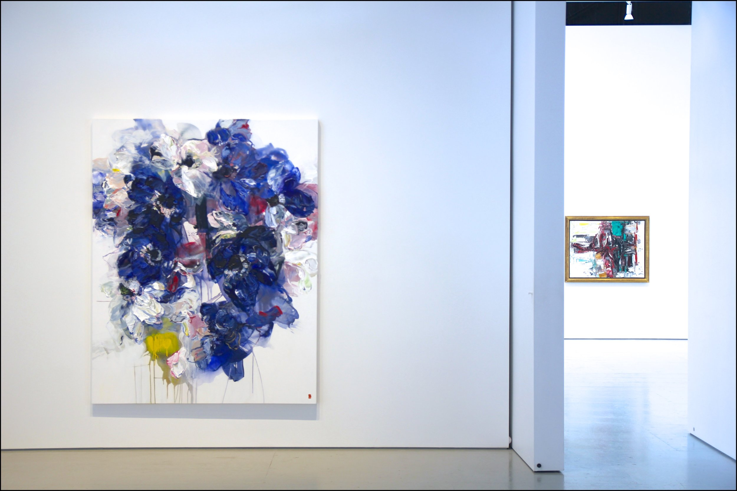 Atmospheric Pressure 84x66 2017   Pictured In Exhibit With Jean-Paul Riopelle