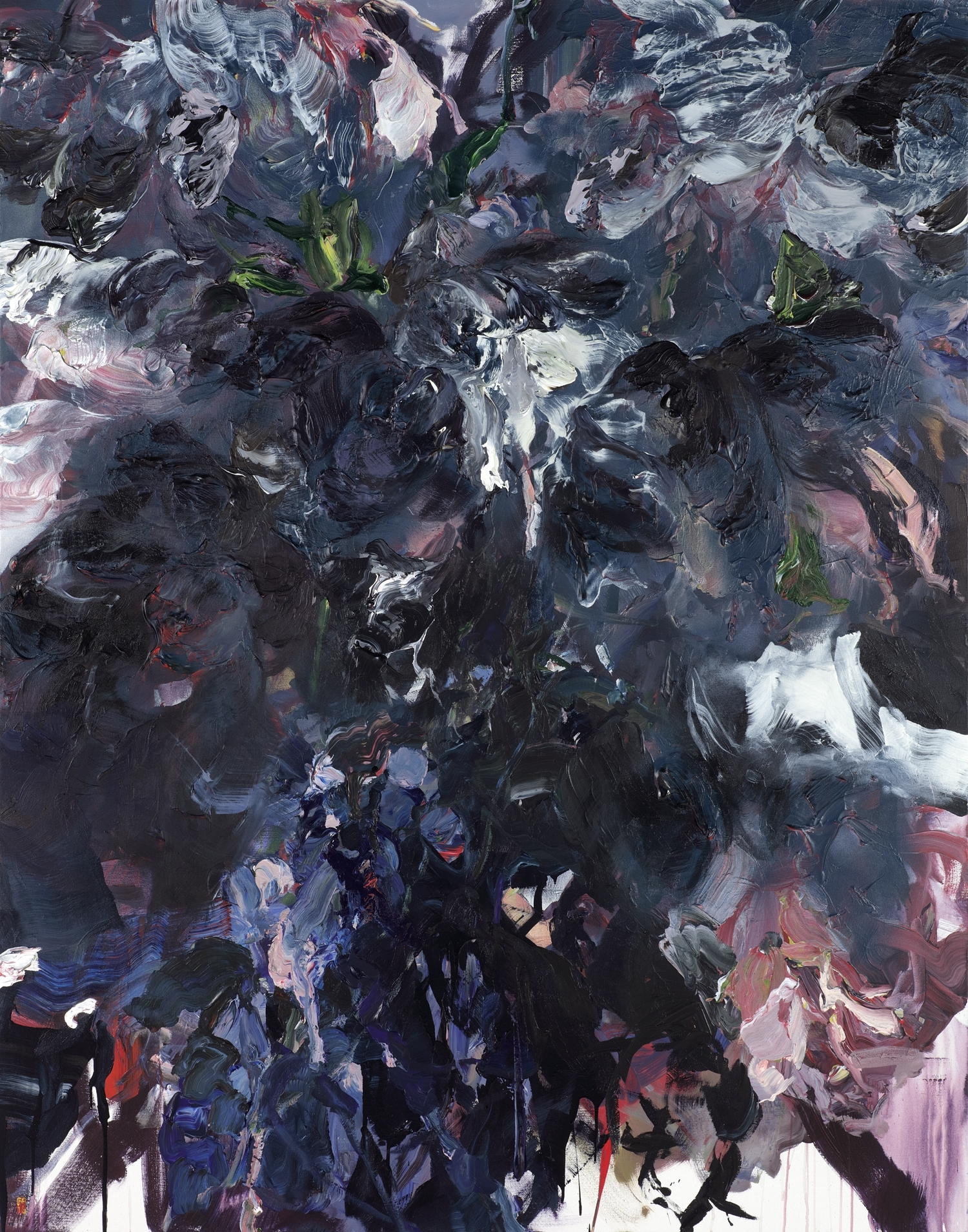 "Flower Addict 84""x 66"" 2016"