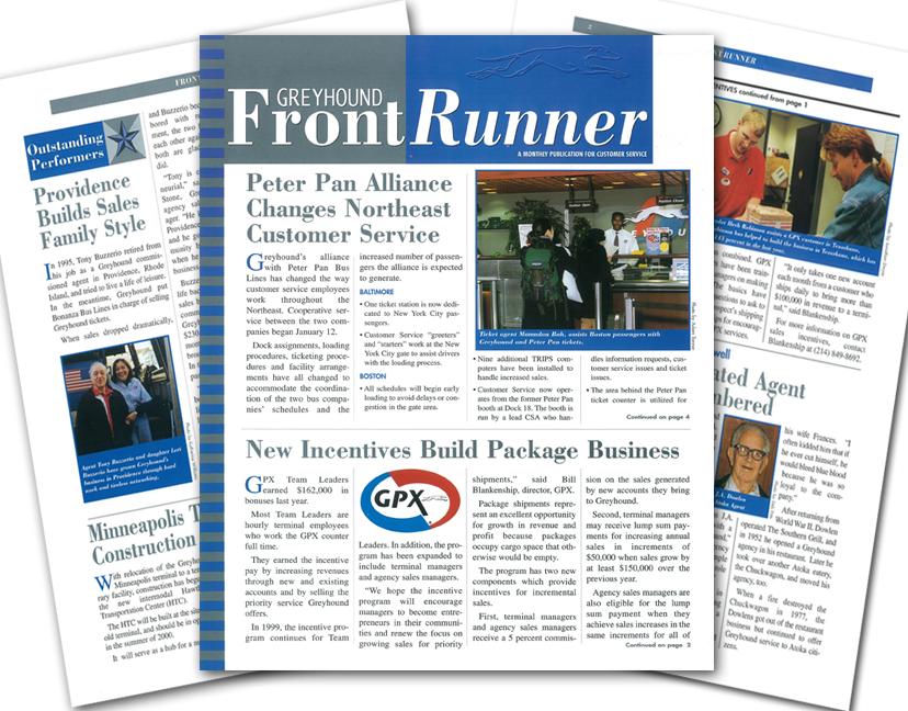 Greyhound Front Runner Newsletter