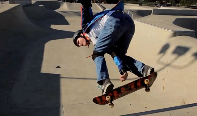 Tommy Carroll practices daily at the skate park by his suburban chicago home.