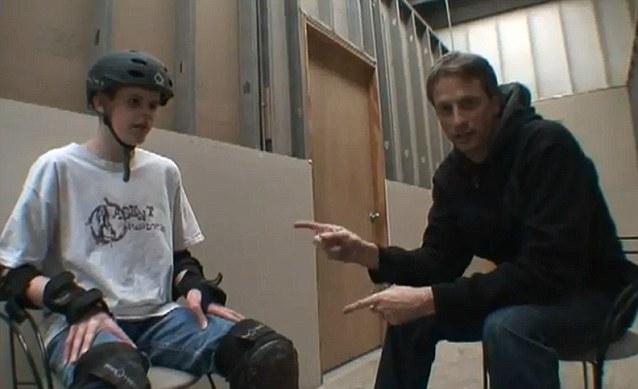 Tommy Carroll and skateboarding legend Tony Hawk