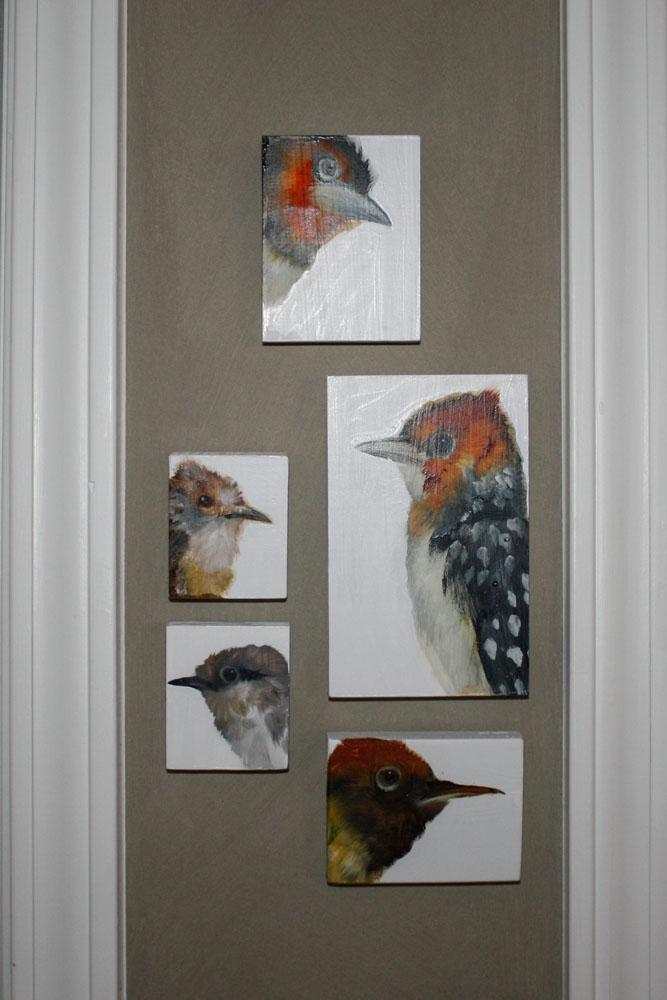 Mini Bird Paintings: Diane Kilgore