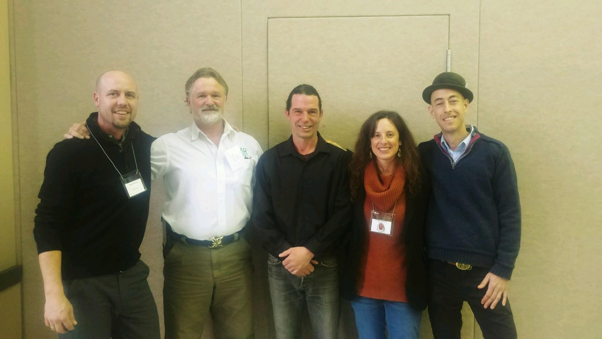 (Pictured left to right: Johann Rinkens, Mark Shepard, Andrew Faust, Lindsay Napolitano, Michael Judd)
