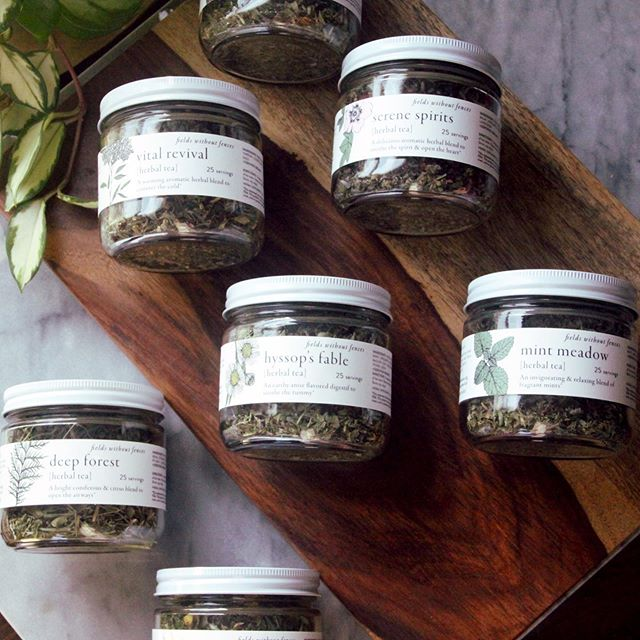 The air is cooling which can only mean one thing… it's officially tea season again! Our herbal teas are handcrafted with certified organic herbs grown on our farm in Frenchtown, NJ. Looseleaf, fragrant, and packaged in reusable glass jars, we take a mindful approach from seed to cup. * Order our Herbal Tea Sampler pack and get your choice of three varieties at 15% below retail price! LINK IN BIO  #herbaltea #farmgrownherbals #organic #farm #farmerherbalist #plantmedicineforpeopleandplanet #handharvested #medicinalherbs
