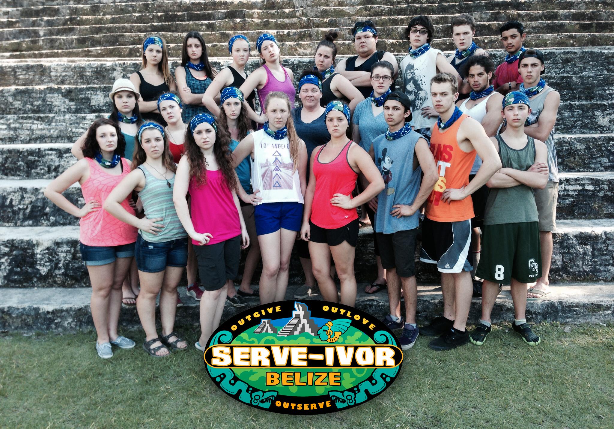 The official cast photo of SERVE-IVOR BELIZE!!!