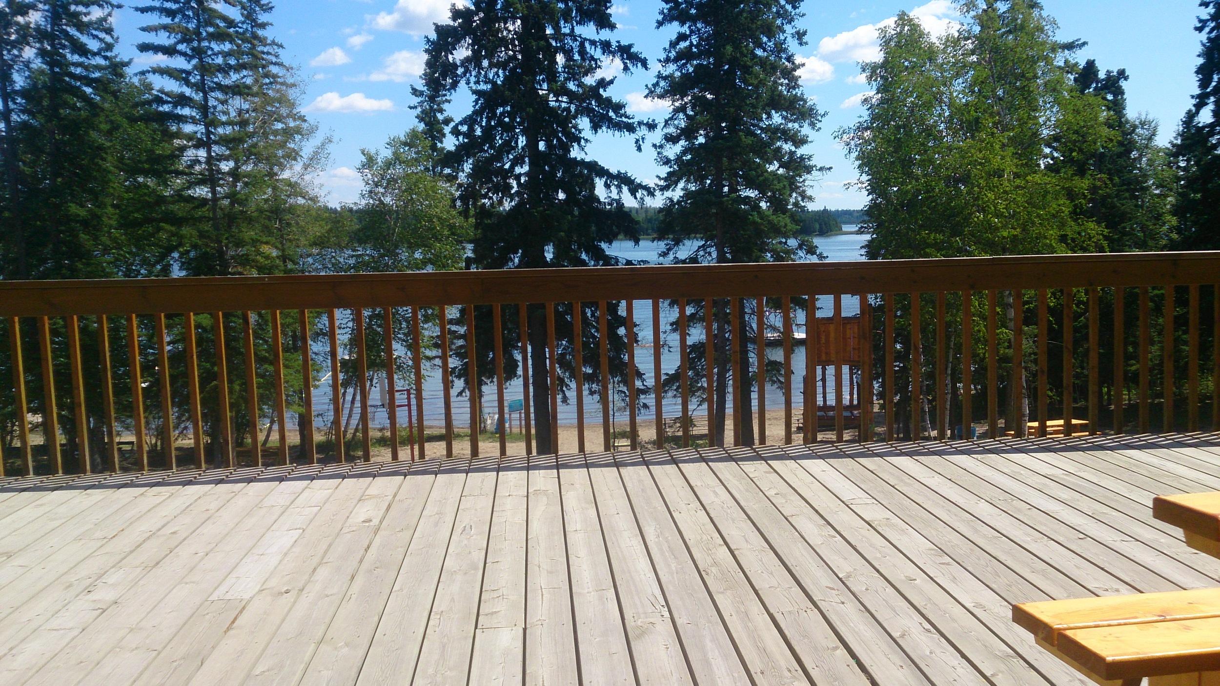 The deck at Camp Kadesh