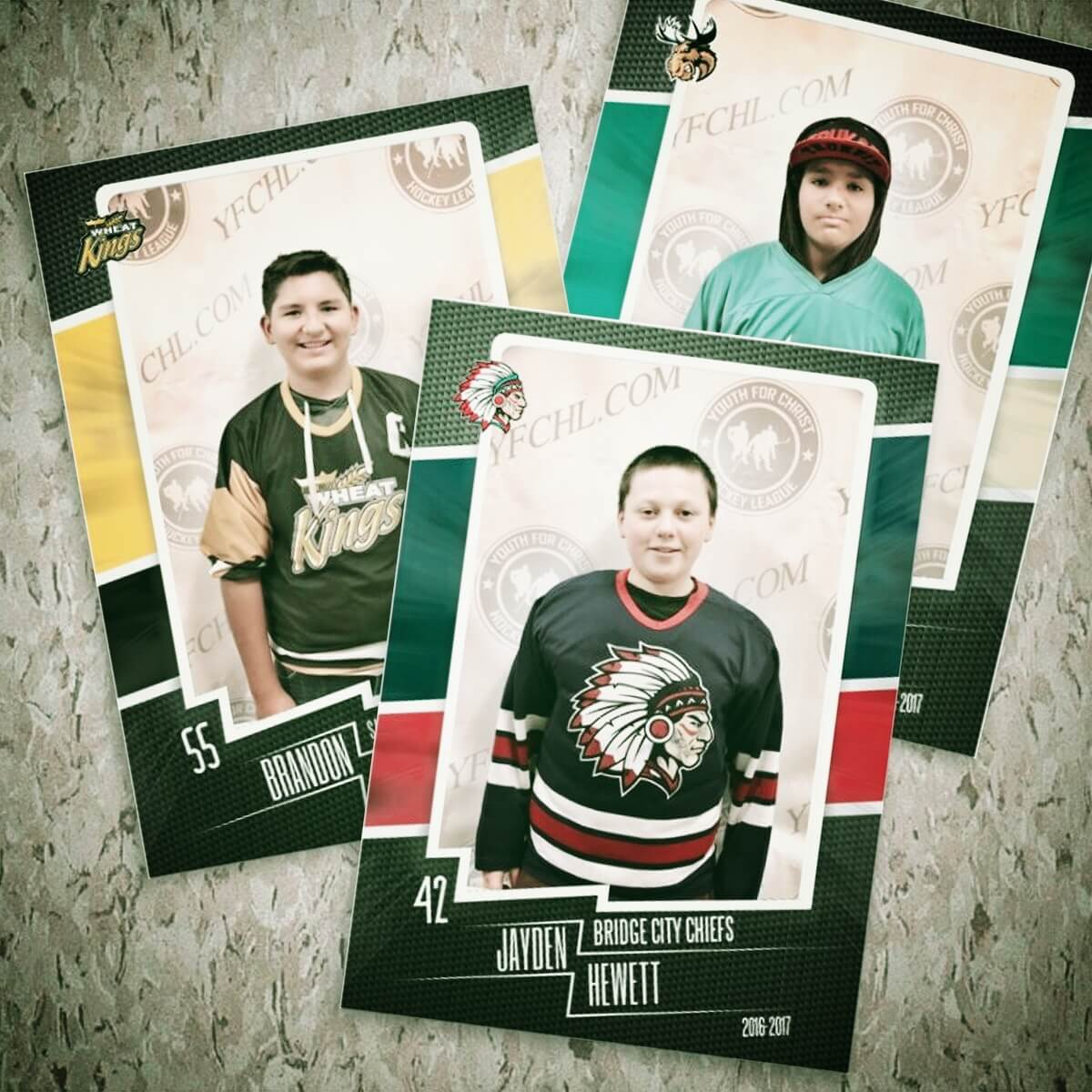 Your gift of $25 will purchase personalized hockey cards for five kids