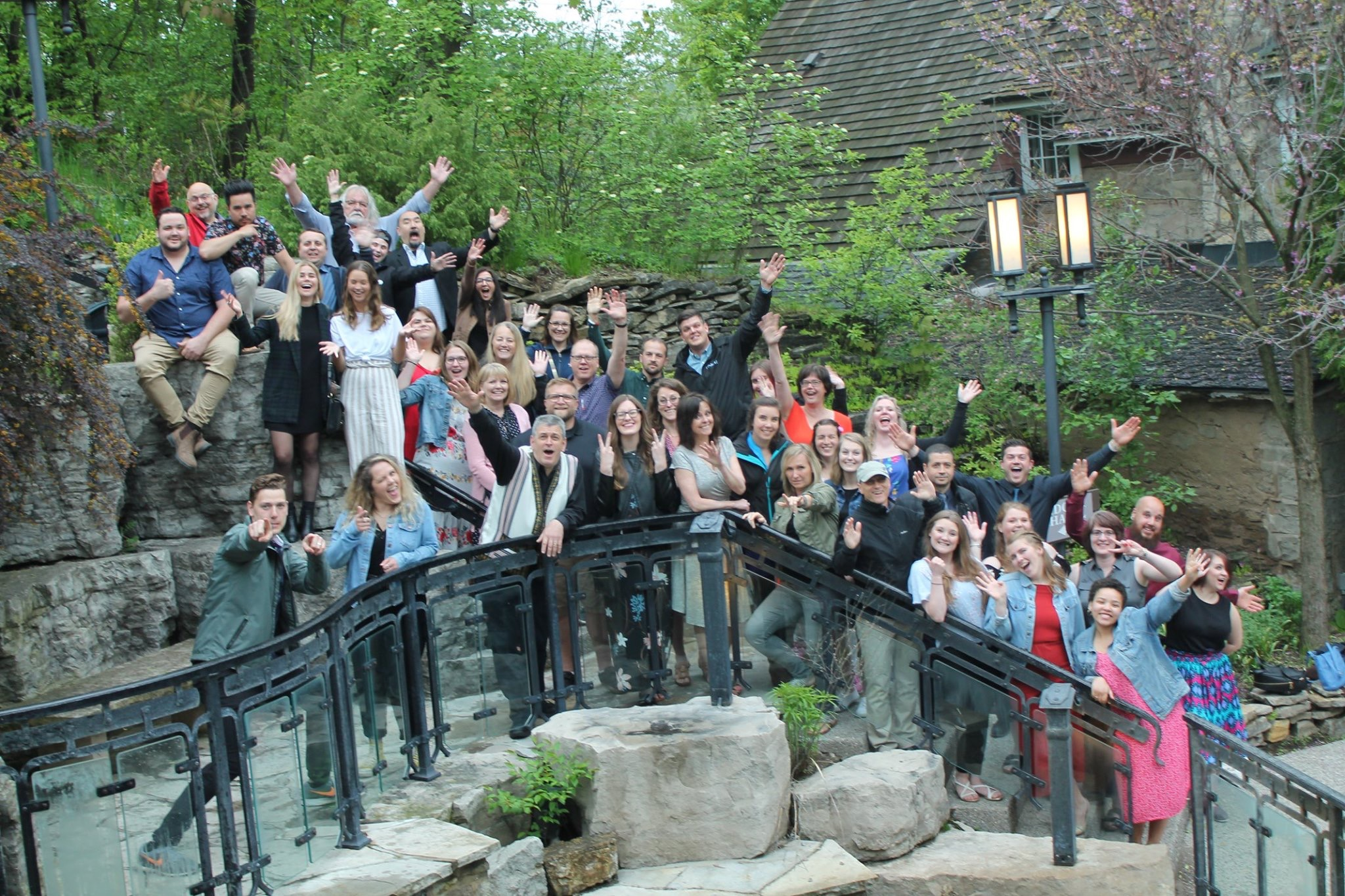 All the National Staff and attendees from the week out at our wrap-up event which took place at the beautiful Ancaster Mill restaurant in Hamilton.