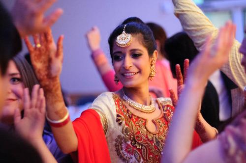 Sikh Bride dancing at her shower