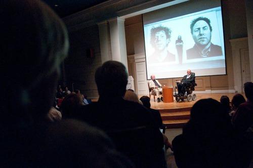 Chuck Close at The Corcoran in Washington, DC.