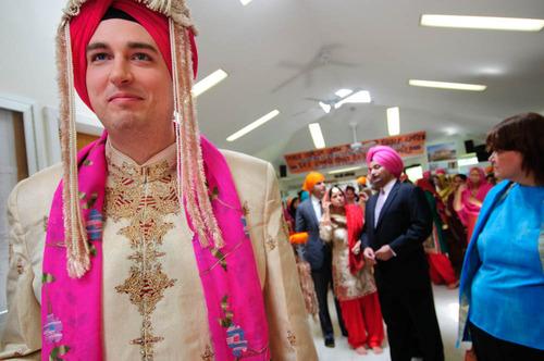Sikh bride getting ready